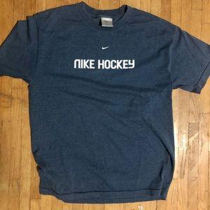 Bluish Grey Nike Hockey tee size Large silver label